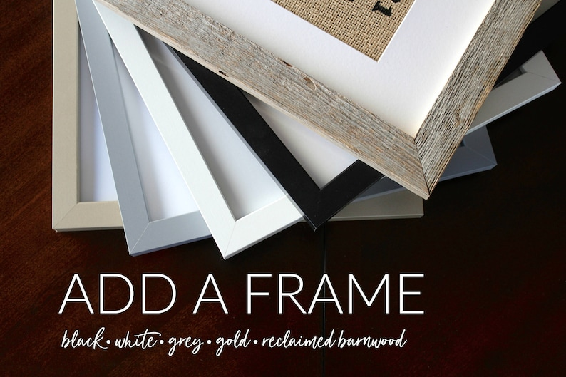 ADD A FRAME for 5x7 8x10 or 11x14 Print  5 Color Options image 0