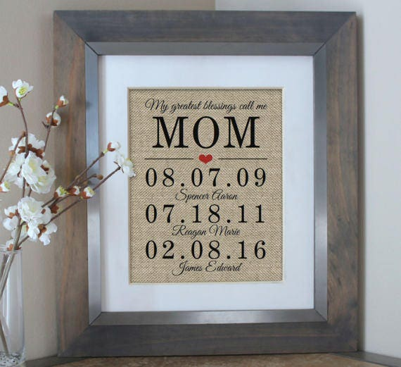 Mothers Day Gift Burlap