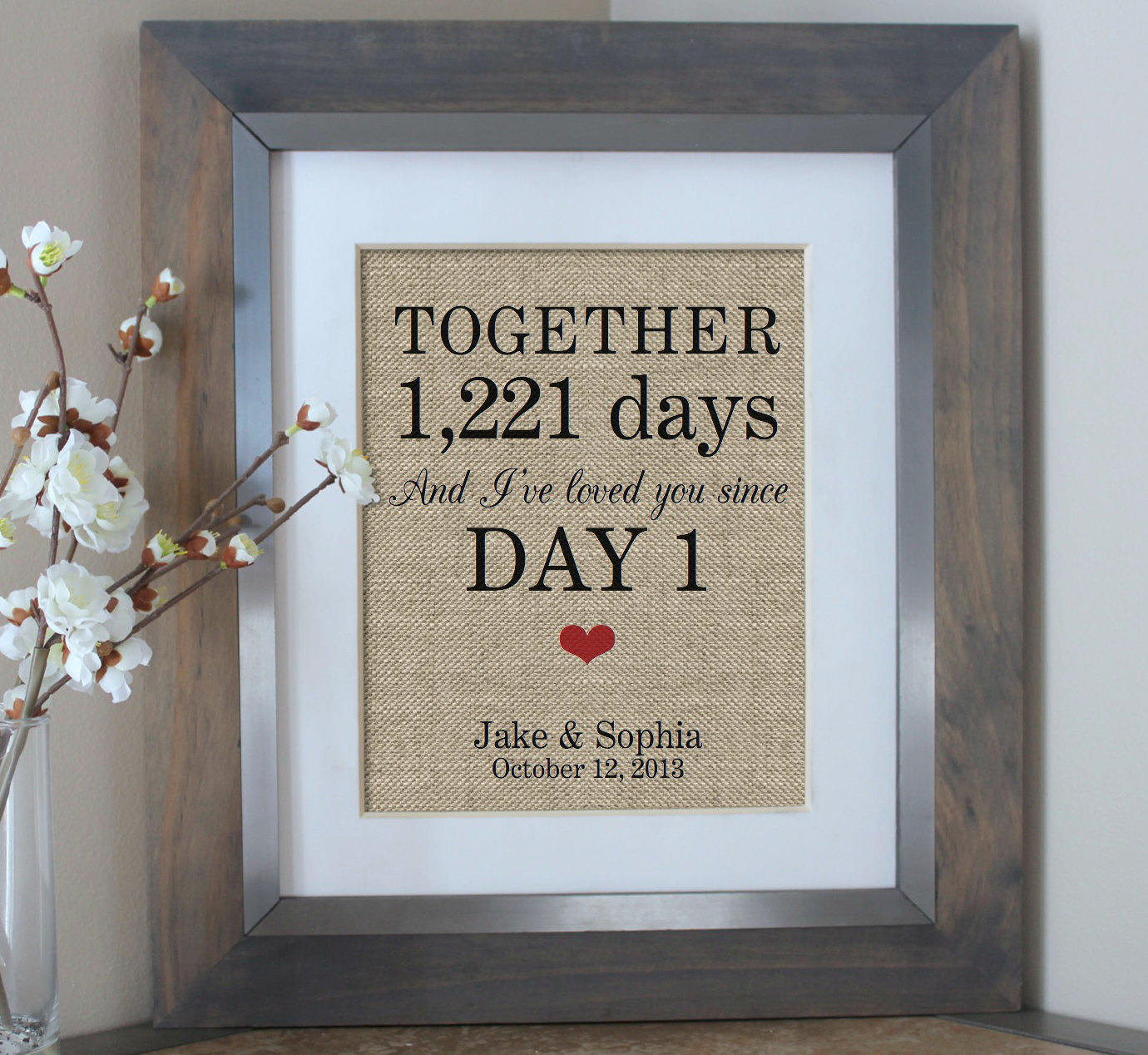 What To Get Fiance For Wedding Gift: Days Together Personalized Gift For Boyfriend Gift