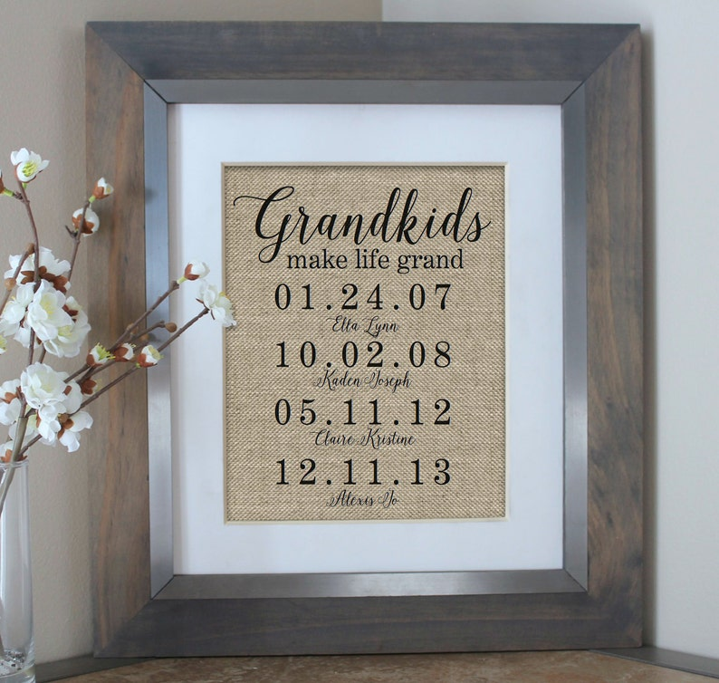 Grandparents Sign Mothers Day Gift For Grandma Grandkids Make