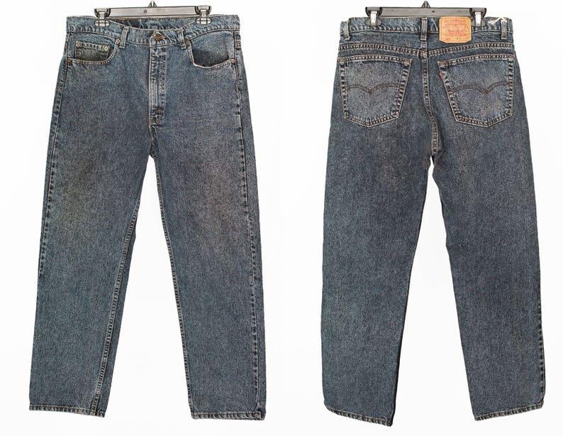 19fa7f021a25 Size 36 505 Vintage Black Levis 505 Levi Jeans Vintage | Etsy