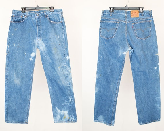 Size 38 501 Levis, 38x30, Button Fly Denim Jeans M