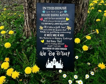 In This House we do Disney sign, Disney, home decor