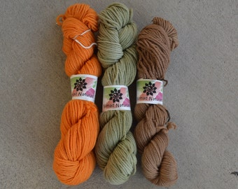 Nomad's Naturals - Natural Handdyed Yarn - 3 pack dk Weight