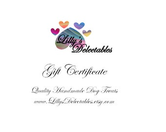 30 Dollar Gift Certificate (Mail Delivery)