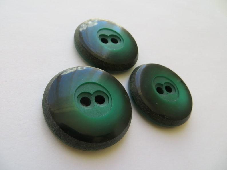1950s Vintage Big /'Owl Eyes/' Mottled Dark Green Coat Jacket Cape Dress Buttons-35mm