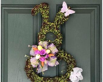 Easter Bunny.  Easter Door Wreath. Bunny Door Hanging. Grapevine Bunny. Easter Wall Decor. Spring Door Wreath. Front Door Decor. Spring Gift