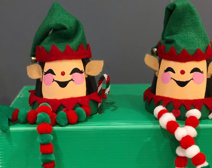 Flower Pot Elves. Cheery Shelf Elves. Handmade Christmas Elves. Pompom Elves. Christmas Gifts for Kids. Gifts For Christmas. Unique Elves
