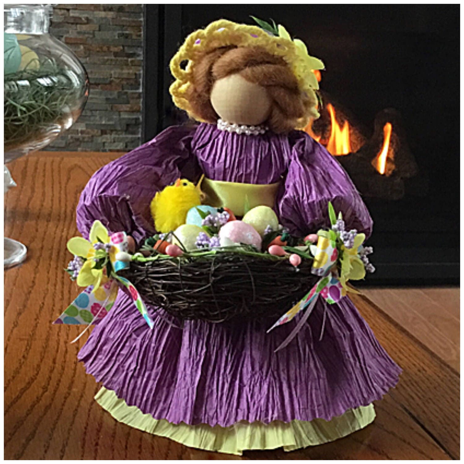 Easter doll easter figurine easter table decor easter nest easter figurine easter table decor easter nest easter bonnet unique gifts for easter flower girl spring figurine spring negle Image collections