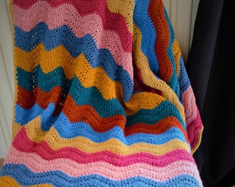Multi-Color crochet blanket