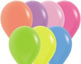 Neon balloons | Etsy