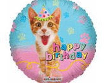 Cat Balloon 18 Happy Birthday Decorations Party Decoration Kitty Balloons