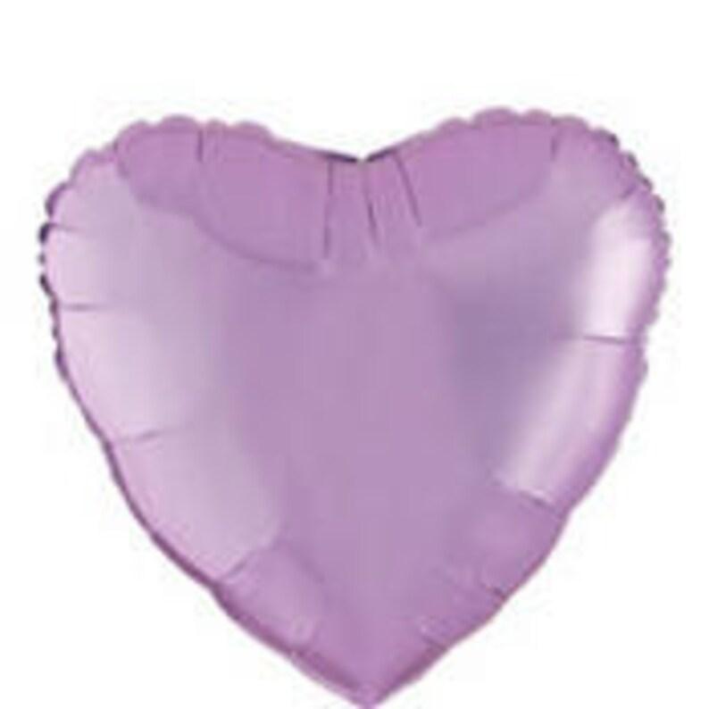 18 Lavender Purple Heart Foil Balloon Wedding engagement Decoration Party Baby Shower Valentines day Valentine Decor Birthday