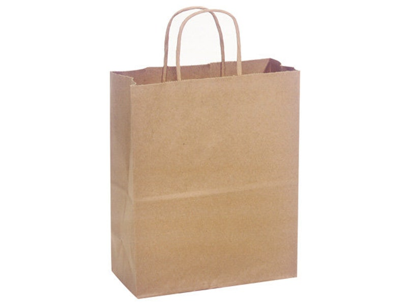Handles Gifting Bridal Shower Birthday Gift Cub Size 8x10.25x4.75 Brides Maid Tote Wedding Gifting Kraft Gift Bags Party