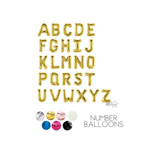 """34/"""" Lettre Nombre Ballons Air Rempli Nom Message Anniversaire Mariage Fête"""
