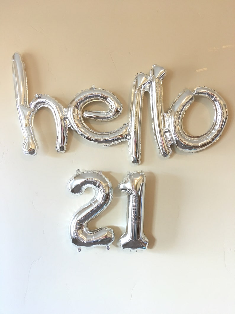 birthday party decoration Silver Balloons Party Hello 40 Decoration thirtieth 40TH Birthday Banner Balloons