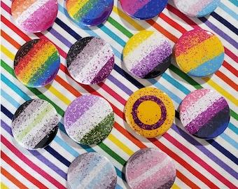 Pride Pins 1.5 in Pinback Button LGBTQ LGBT+ LGBT
