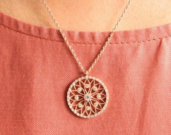Vintage Necklace / Mother Gift / Gifts for Girlfriend / Rose Gold Vintage Necklace / Vintage Jewelry / Rose Gold Necklace / Gift for Her