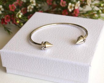 Silver Bangle / Bangle Bracelet / Silver Jewelry Gift / Birthday Gift / Layering Bracelet / Gift Ideas for Her /Gifts under 20