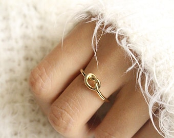 Will You Be My Bridesmaid Gift Gold Infinity Ring Knot Ring Promise Ring Knot Eternity Ring Friendship Ring Tie the Knot Bridesmaid Gift