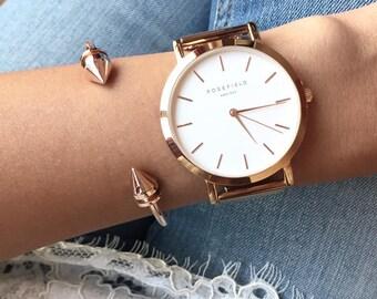 Rose Gold Bracelet / 21st birthday gift / Bangle Bracelet / Girlfriend Gift / Arrow Bracelet / Birthday Gift / Best Friend Gift