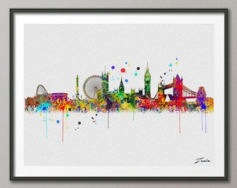 london watercolor etsy