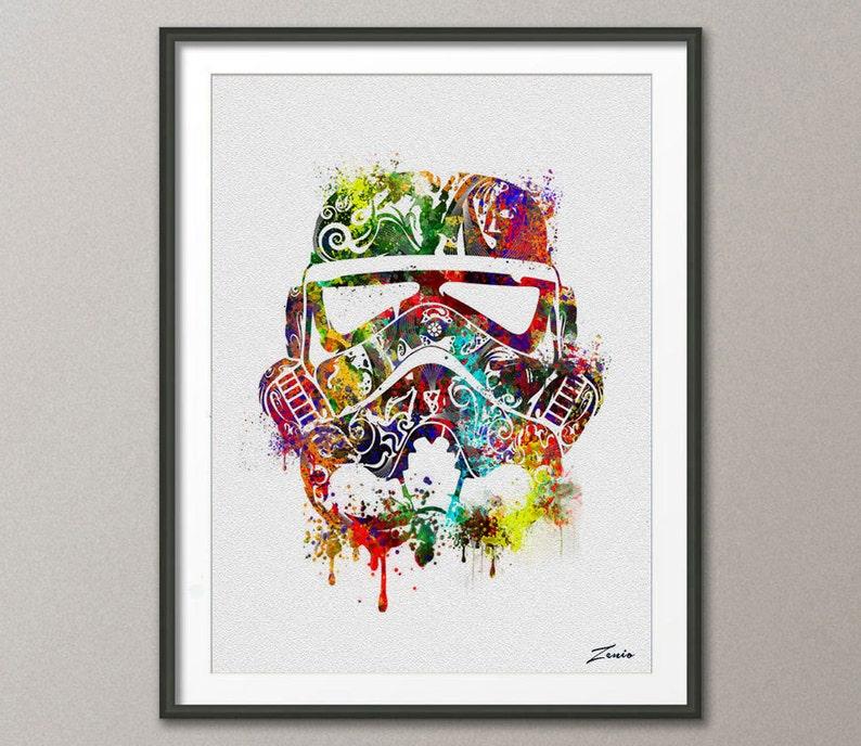 2bca6be2d Star wars poster Watercolor star wars painting illustration | Etsy