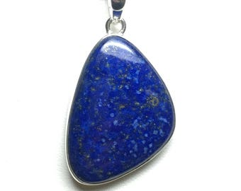 Lapis lazuli sterling silver pendant, FREE SHIPPING