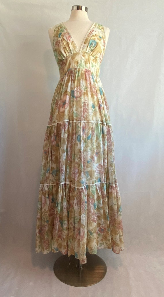 Rare Vintage Floral Gunne Sax Dress~ Vintage Women