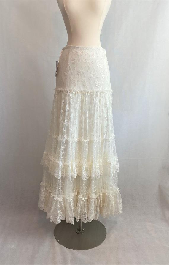 NWT Vintage Cream Gunne Sax Lace Skirt~ Vintage Gu