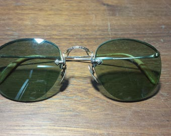 Rare 10k Gold American Optical Eye Glasses with Tinted Lenses