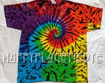 Design By Humans tie dye mandala Girls Youth Graphic T Shirt