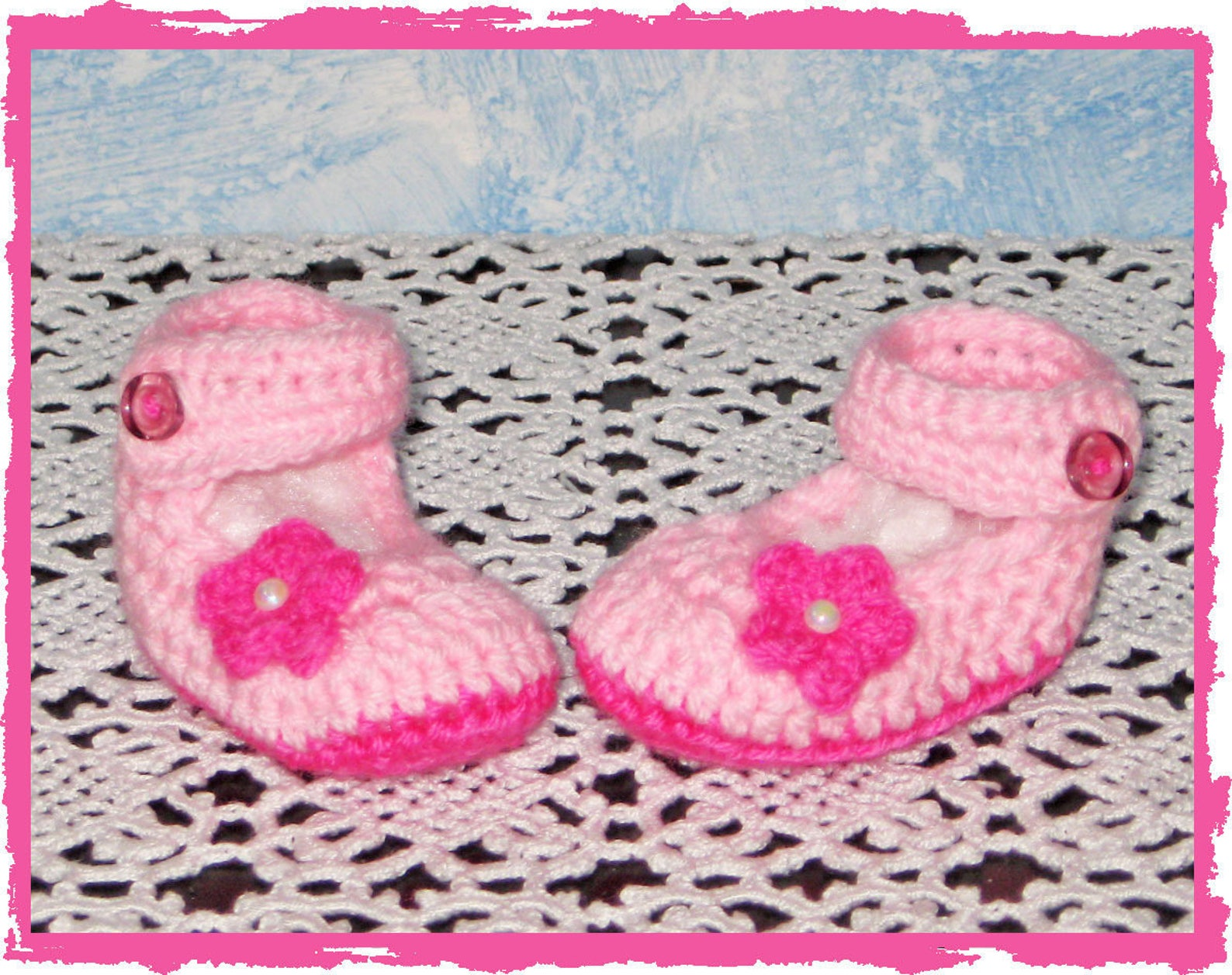 crib baby shoes baby pink and fuchsia ballet flats with flower