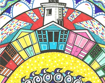 """Southwold, Suffolk, 6x6"""" Greetings Card"""