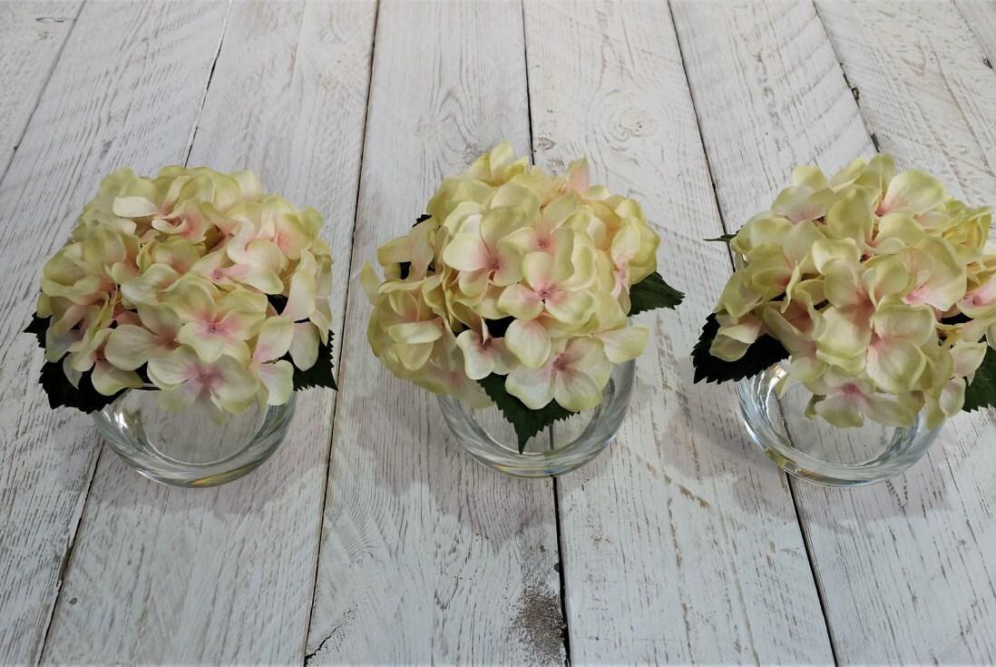 Creme Rosa Seide Hortensien Blumen Seide Blume Anordnung | Etsy