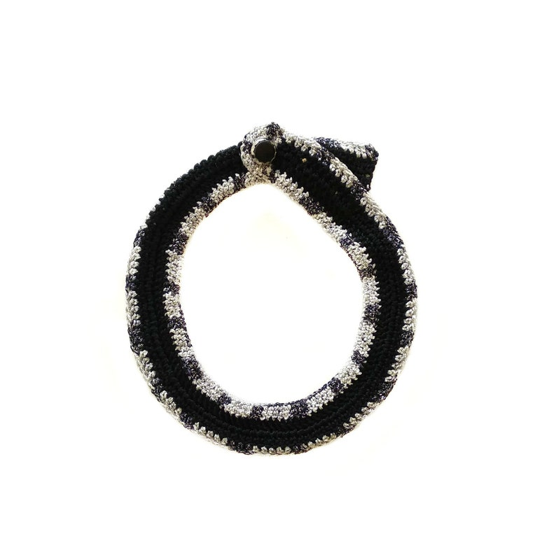 Bib Necklace Fiber Necklace Contemporary Jewelry Crochet Collar Statement Necklace Statement BIB Collar Necklace The Luna Necklace