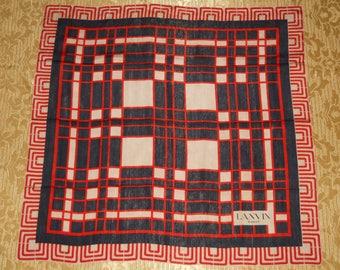 Genuine vintage Lanvin Paris scarf - silk 48ca0ea3ed6