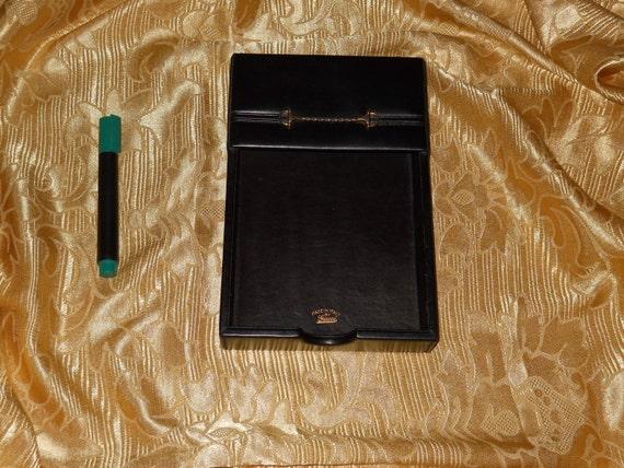 Echte Vintage Gucci Leder Tisch Visitenkartenhalter Echtes Leder