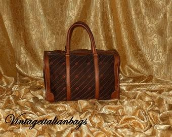 Echte Vintage Gucci-Handtasche - Stoff und Leder