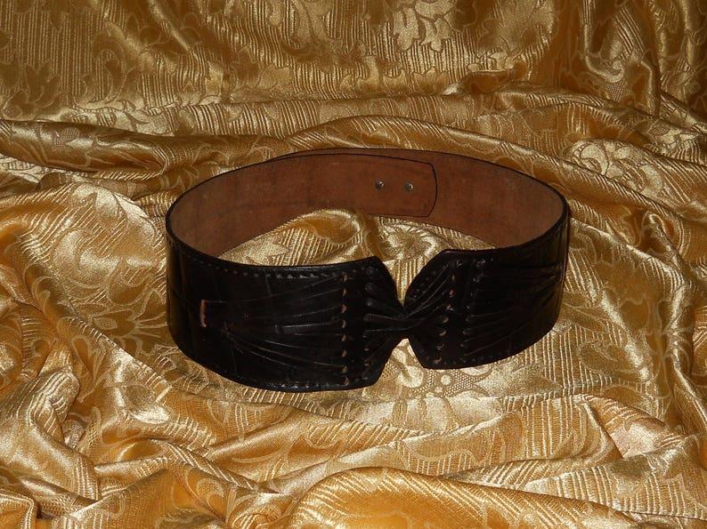 Genuine vintage belt genuine leather