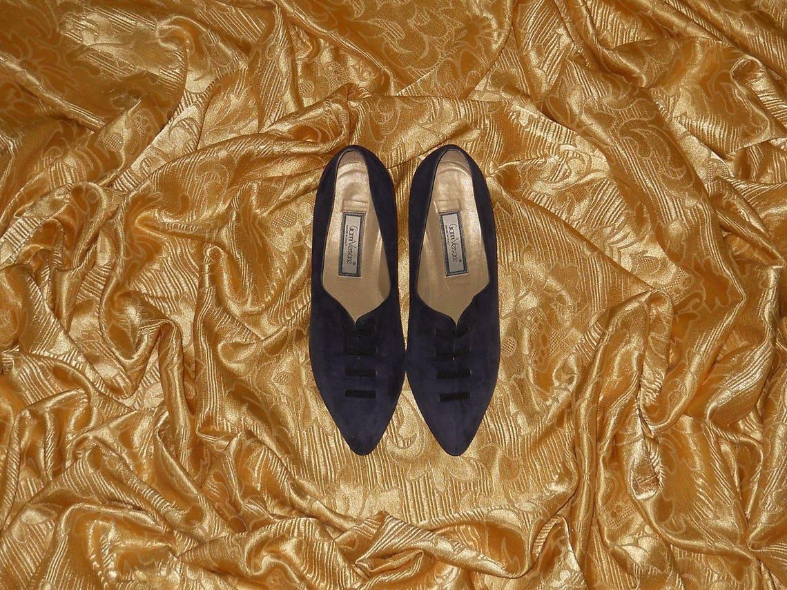Zapatos originales vintage Gianni Versace - cuero genuino