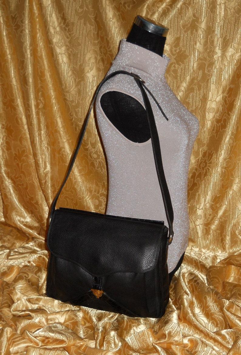 d2f38ef513545 Genuine Gucci bag / genuine leather / vintage 80's