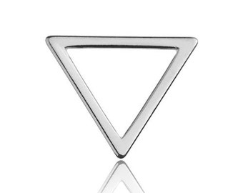 Charm/Connector Triangle Sterling Silver 925