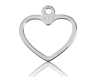 Charm Heart Sterling Silver 925