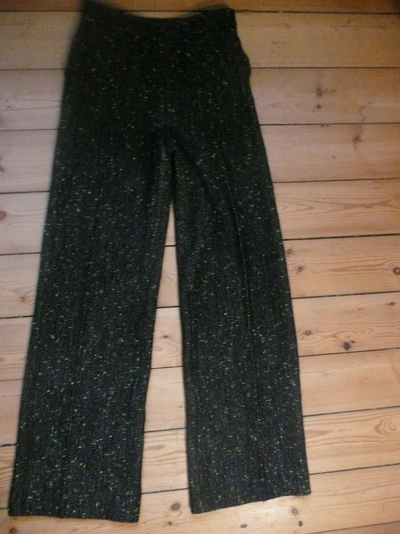 Christian Lacroix 90s  high waisted houndstooth w… - image 1