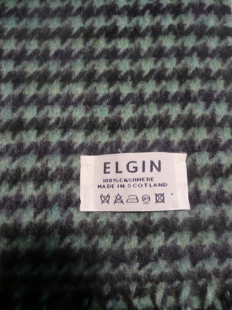 40014744340 ELGIN Tartan Plaid 100 % cachemire écharpe Ecosse