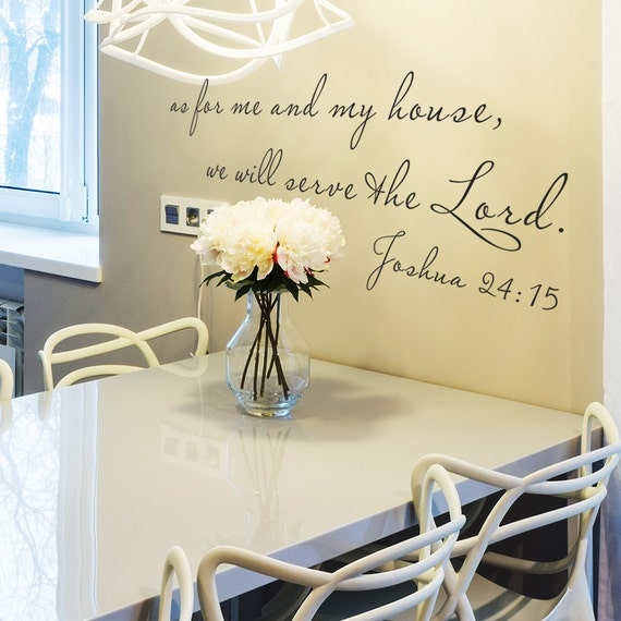 Joshua 24 15 Wall Decal As For Me And My House Sign We Will Etsy
