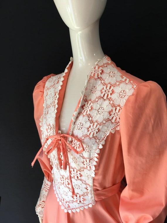 Vintage 1970s Prairie Cottagecore Maxi Dress