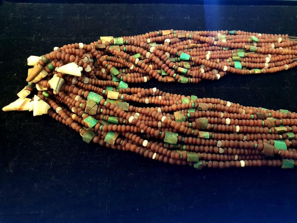 1 brin superbe graine petite graine superbe naturelle Antique ancienne authentique Agate avec perles Turquoise de fabrication d'alimentation 2 mm. pierres précieuses de bijoux Afghanistan 17b23a