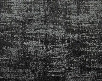 Clarke & Clarke Alessia - Embossed Velvet - Curtain Fabric - Jet